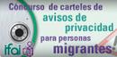 Concurso de carteles de avisos de privacidad para personas migrantes