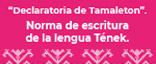 Declaratoria de tameletón, norma de escritura de la lengua tének